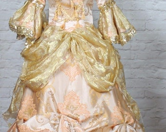 Theatre Victorian Edwardian Style Gown Dress Costume Wedding Stage UK 12-14...US 8-10