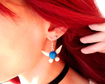 Navi Earrings The legend of Zelda blue fairy kawaii clinging earrings