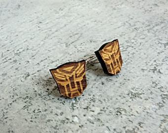 Transformers Cufflinks Wooden Cufflinks Groomsmen gift ideas Transformers gift Gifts for men Valentines gifts Groomsmen cufflinks