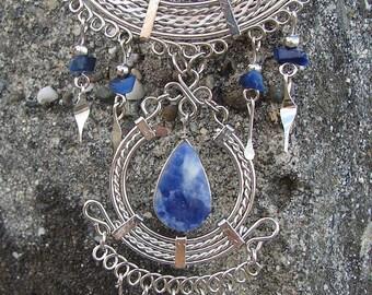 Blue Sodalite Peruvian Necklaces