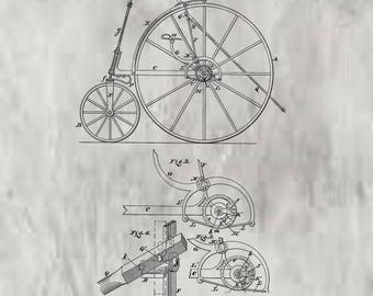 Velocipede Patent #233,640 dated October 26, 1880.