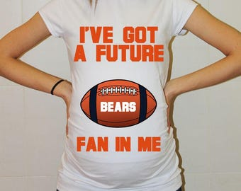Bears Future Fan Shirt Chicago Bears Baby Chicago Maternity Shirt Football Maternity Clothing Pregnancy Shirt Baby Shower