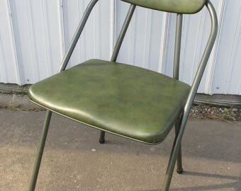 Vintage Hamilton Cosco Stylaire Green Folding Chair from the 50's/60's Mid Century Modern