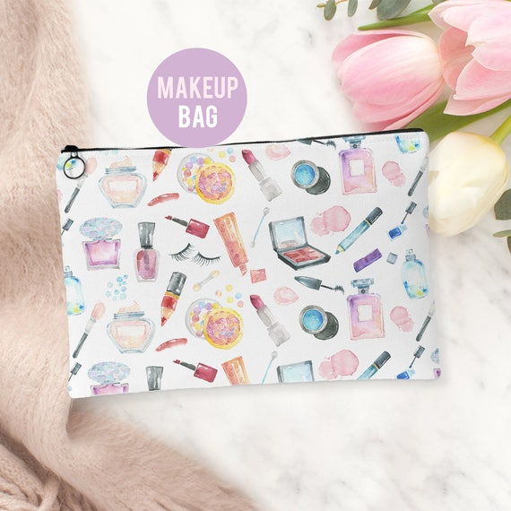 Makeup Bag - Cosmetics Pattern Make Up Bag - Accessories Bag Available in 2 sizes