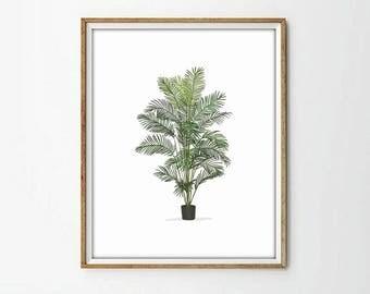 plant print, living room print, modernist print, modernist art, nature print, wall art decor, wall art print,4 SIZES INCLUDED