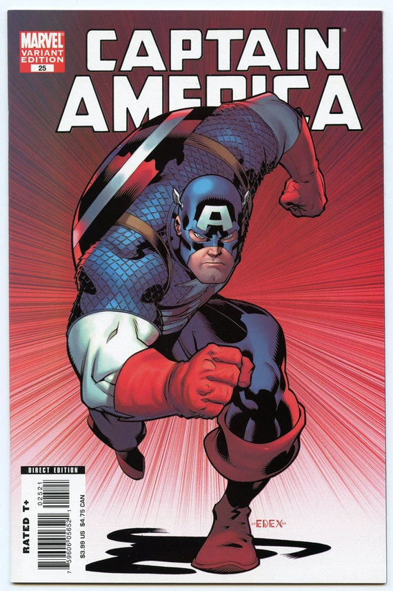 Captain America 25 Apr 2007 (Ed McGuinness variant cover)  NM- (9.2)