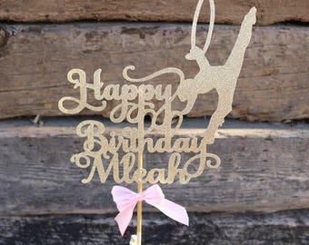 Gymnastics Party, ANY NAME COLOR, Gymnastic Cake Topper, Gymnastics Birthday, Gymnastics, Gymnastic Birthday, Gymnastics Decorations