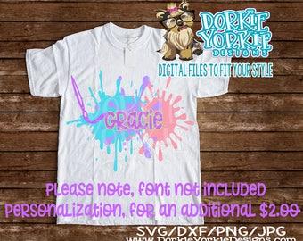 Art Smock. Apron watercolor - svg dxf png jpeg cut file - school, kids, paint brush,  - Cricut, Silhouette Cutable file