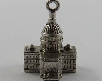 US Capitol Sterling Silver Vintage Charm For Bracelet
