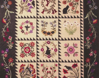 Folk Art Album - Wool Applique quilt pattern by Primitive Gatherings - SALE!!