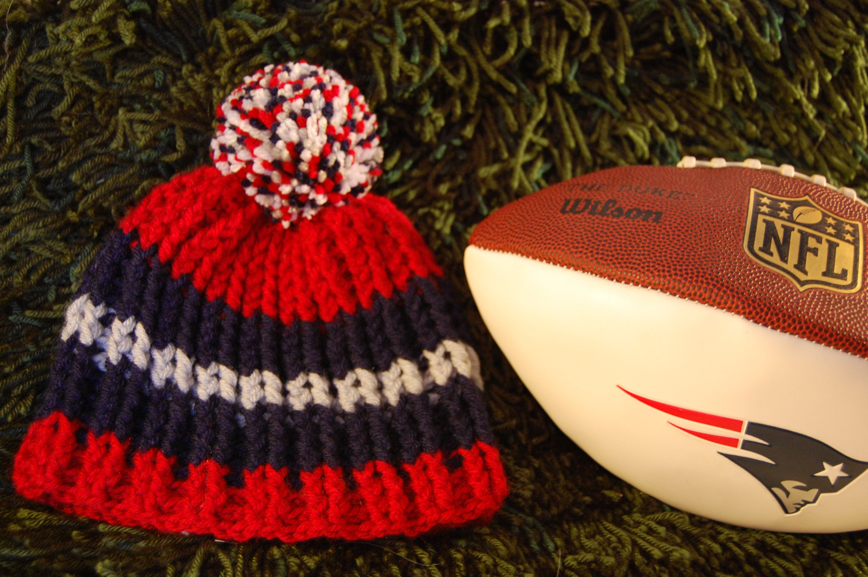 Patriots inspired winter beanie hat 5ed96818fd8