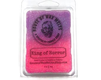 HORROR WAX MELTS - King of Horror - (Raspberry & Cranberry) - Vincent Price Inspired - Scented Wax Melts