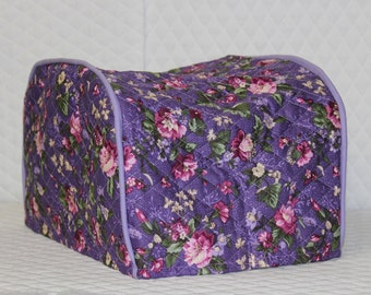 Grape Floral 4 Slice Toaster Cover