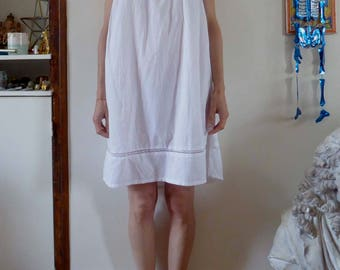 Nightdress nightshirt babydoll with lace slip size S vintage