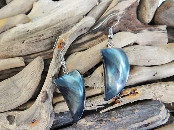 Mother Of Pearl Fang Tusk Earrings Pearl Tribal Pearlescent Warrior Goddess Beach Nautical Shell Seashell Natural Earring Ear Ring Rings