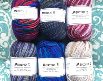 MERINO 5 Prints 5.99 +1.10 ea to Ship Blooming 4114, Northwoods 9454, Berry 2130, Twilight 4121, Pebbles 4136. See Solids!