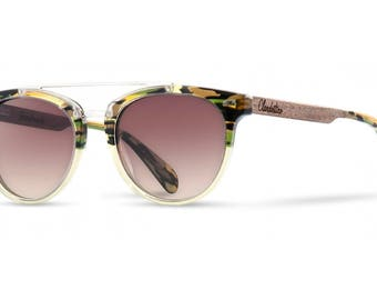 Doppio Ponte Wood Sunglasses from Walnut by Paradox Sunglasses Collection