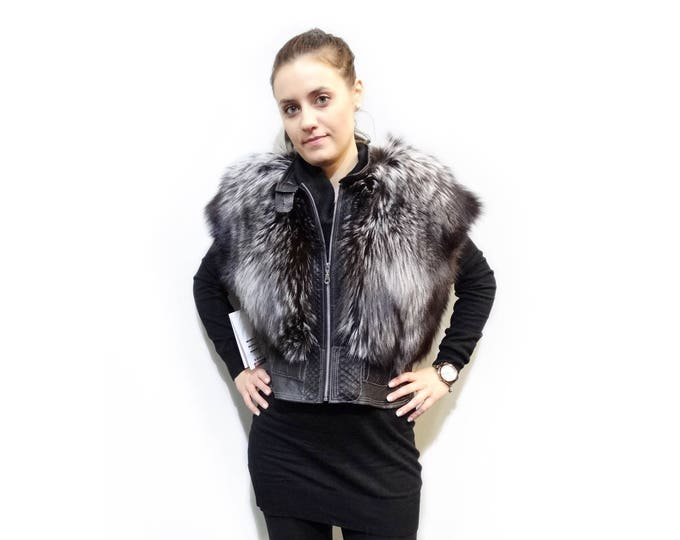 Silver Fox Short Fur Vest F206