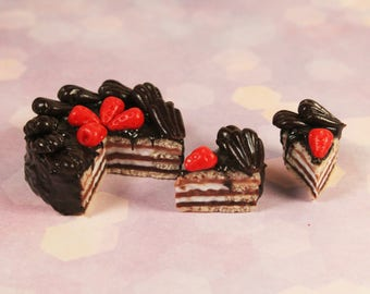 "Handmade Miniature Food for DollHouse 1/6 ""Chocolate Cake"""