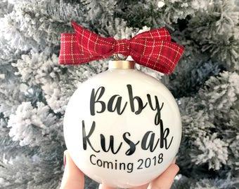 Pregnancy Announcement Christmas Ornaments Aunt  Uncle