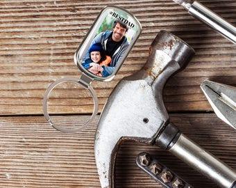 Photo Keychain, Custom Key Chain, Gift For Him, Personalized Keychain, Custom Picture Keychain, Gifts For Dad, Custom Photo Keychain