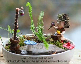 Annabelle, Fairy Garden Mushroom Caretaker - OOAK