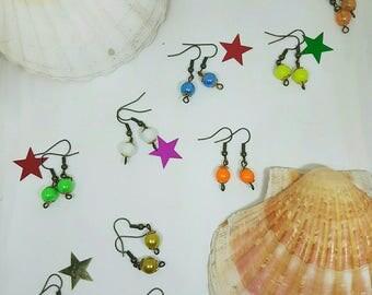 Set of 10 pretty earrings bead