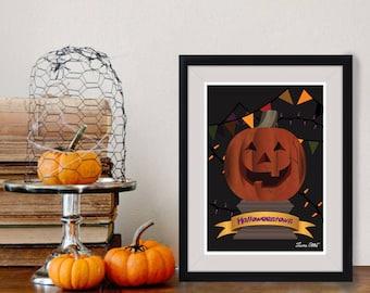 Disney Halloweentown Poster/Print - minimalist the halloweentown marnie aggie witches classic movie disney cromwell poster art decor