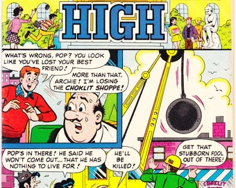 Archie at Riverdale High 1 comic, Jughead, Betty and Veronica, Childrens comics, Vintage book, Andrews, 1972 in FN+ (6.5)