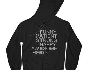 Dad hoodie father hoodie papa hoodie hero hoodie fathers day gift awesome dad hoodie best dad hoodie superhero hoodie    APV17