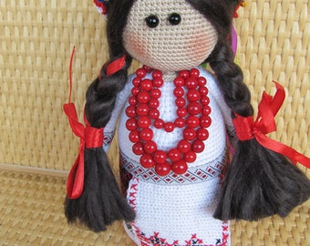 Ukrainian Doll handmade Ukrainian souvenir folk Ukrainian art doll Ukrainian gifts traditions Ukraine folk outfit doll folk Ukrainian wreath