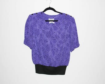 VINTAGE 80's Purple Top