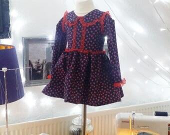 Strawberry Print Lace Dress