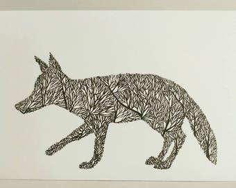 Fox Tree Silhouette VII