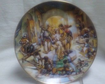 JACOB'S WEDDING Collectors Plate, Yiannis Koutsis,Plate 8 of series 'The Creation',1978,Calhoun's Collectors Society, Inc