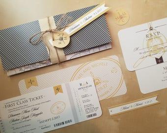 Exceptionnel Aviation, Airplane, Travel Themed Wedding Invitation