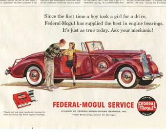Federal-Mogul Service / Engine Bearing Ad from 1960 (PO-60-129)