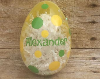 Cell phone pocket credit card holder cell phone accessory personalized easter egg easter basket monogrammed egg easter egg for kids easter gifts negle Images