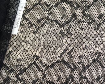 Black lace Fabric,Solstiss Lace fabric, viscose lace fabric, Chantilly dentelle, Embroidered lace,Bridal lace, Lingerie Lace M00115