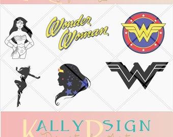 Disney svg, cricut, digital download,  Disney svg files,  minion svg, wonder woman party supplies,  silouhette, DC svg, wonderwoman svg