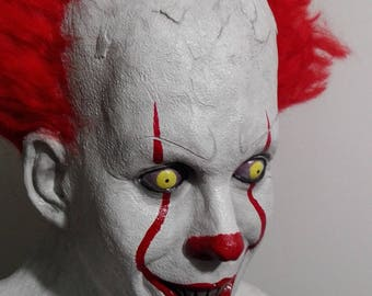 Pennywise It Clown Remake Scary Deluxe Latex Mask!!