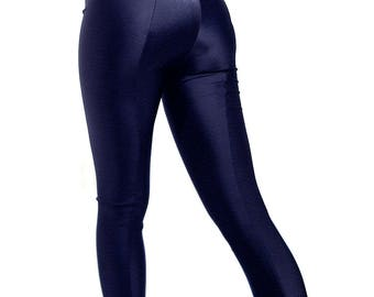 Navy footed spandex leggings tights