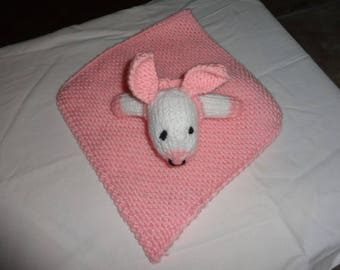 Hand knitted Baby Security Blanket