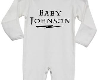 Harry Potter Baby Pajamas, Harry Potter Sleep and Play, Harry Potter Custom Name Pajamas, Harry Potter Baby Onesie