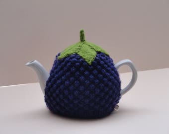 Knitted blackberry tea cosy - Small, medium or large blackberry tea cosy - Lined or unlined blackberry teapot cover