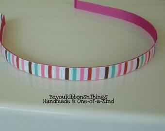 Pink Stripes Headband