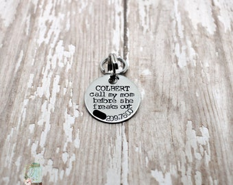 Small dog ID tag / cat ID tag / call my mom before she freaks out / call my dad before he freaks out / dog tags for dogs / dog ID tag