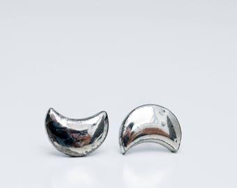 Mens earrings, earring for men, cute earring, minimalist earrings, stud earrings, crescent moon earring, celestial jewelry, earrings for men