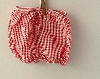 24 Month Red and White Checked Bloomers