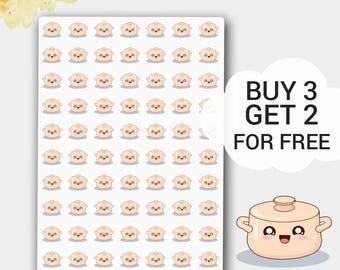 Tiny Crockpots Stickers, Crockpot Planner, Meal Sticker, Kitchen Stickers, Kitchen Planner Sticker, Crock Pot Sticker